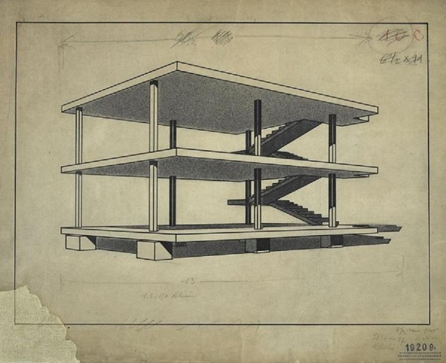 Le Corbusier. Dom-ino ©FLC-ADAGP