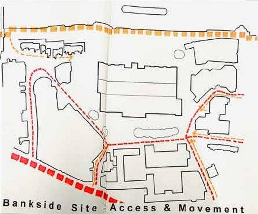 Herzog y de Meuron, Tate Modern, accesos y movimientos