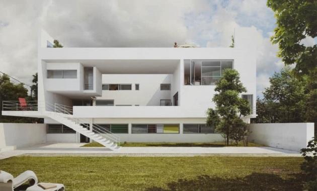 Le Corbusier, Villa Ocampo, tecnneLe Corbusier, Villa Ocampo, tecnne
