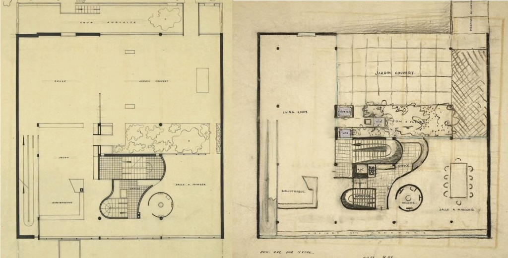 Le Corbusier, Villa Meyer, planta Social - Villa Ocampo, Planta Social