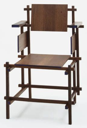 Gerrit Rietveld, Hoge Stoel Highback Chair, 1919, tecnne
