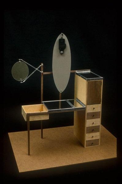Marcel Breuer, Bauhaus, mobiliaro dormitorios femeninos, 1923. tecnne