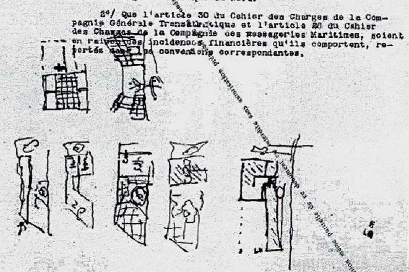 Casa Curutchet, primeros bosquejos de Le Corbusier