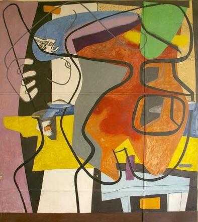 Le Corbusier, Mural A35s, tecnne